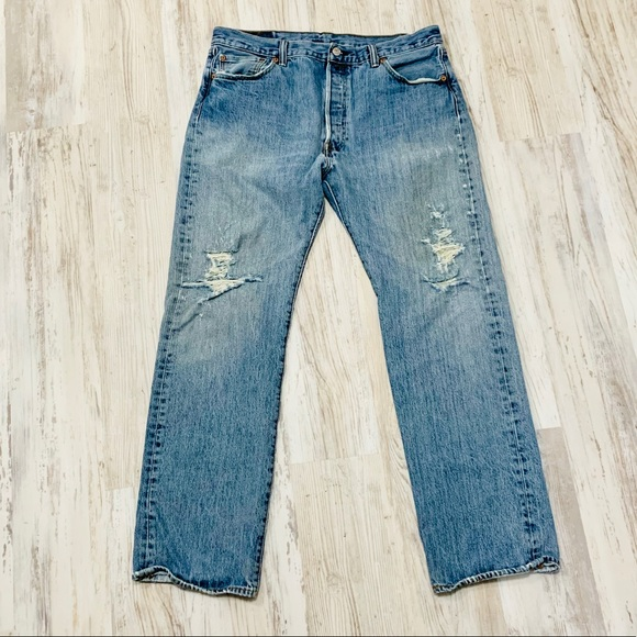 Levi's Other - Levi's 501 Distressed Grunge Jeans